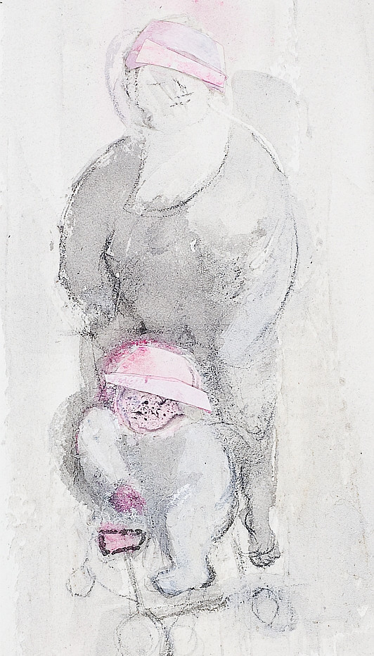 21. Mother and child. Acrylic pencil col