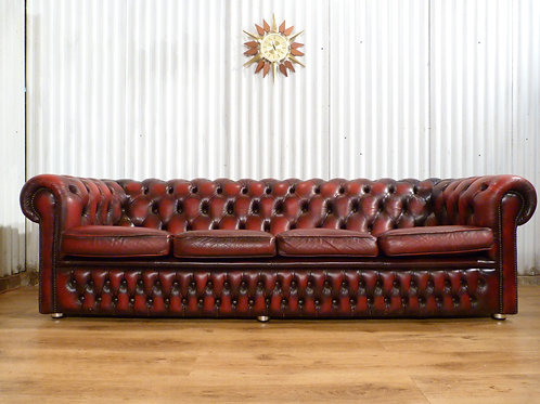 Chesterfield oxblood red 4 seater sofa