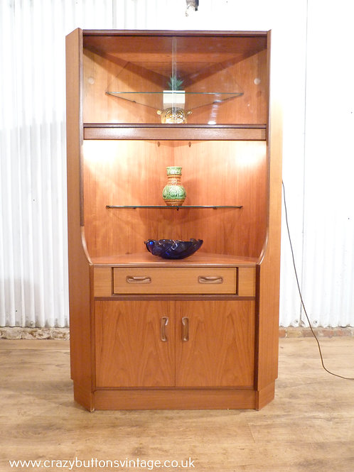 G plan corner display cabinet