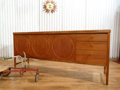 Nathan circles Mid-century teak 6ft sideboard