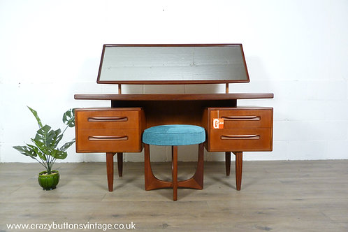 G Plan Fresco floating dressing table and stool