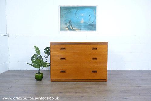 Swedish teak chest of drawers