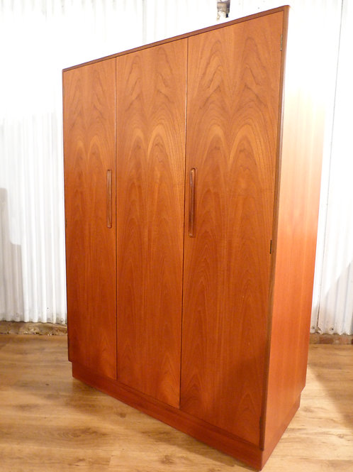 G Plan fresco teak bi fold triple wardrobe