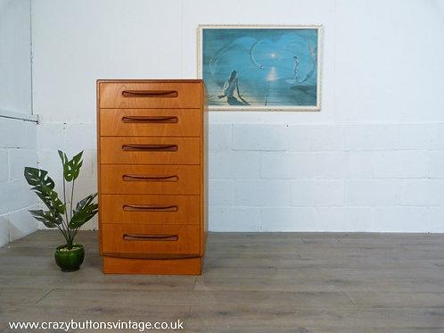 G Plan Fresco teak tallboy chest of drawers