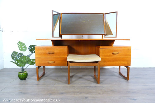 G Plan Quadrille teak dressing table desk