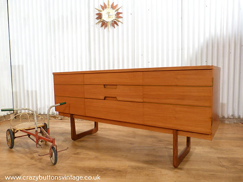Uniflex Q range teak small sideboard