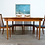 Thumbnail: G Plan oval extending dining table and six chairs