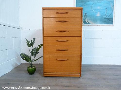 Austinsuite mid century teak chest of drawers tallboy