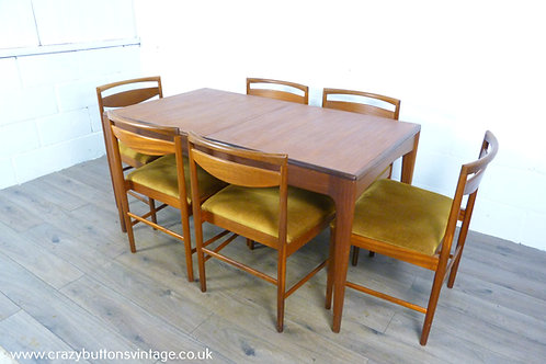 Younger Fonseca teak dining table 8 Mcintosh 9433 chairs