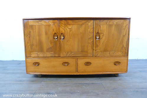 Ercol Windsor elm compact sideboard tv stand