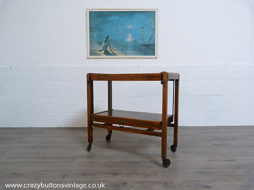 Vintage Metamorphic Wooden Tea Trolley - Converts to a Table