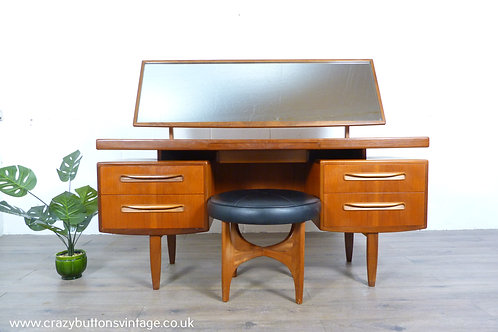 G Plan Fresco floating teak dressing table and stool