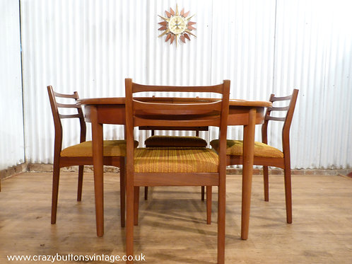 G plan round table and chairs