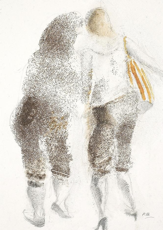 Girls 2009. Carborundum pencil watercolo