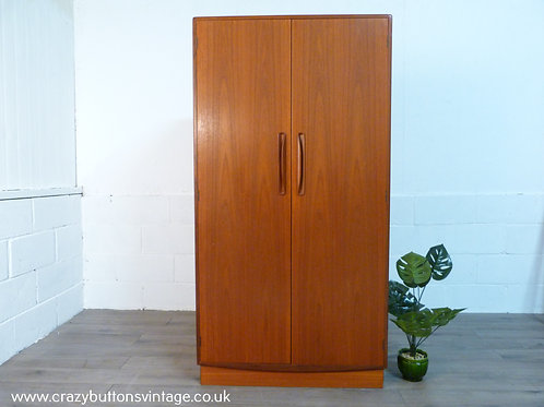 G Plan teak double gentleman's wardrobe