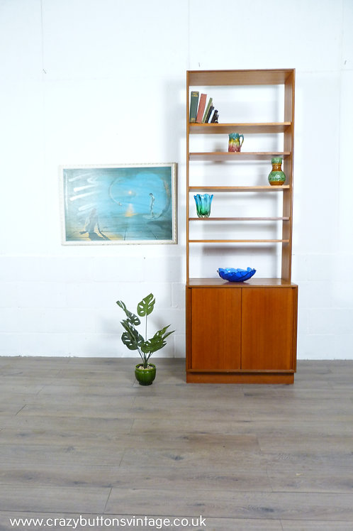 G Plan form 5 teak bookcase room divider