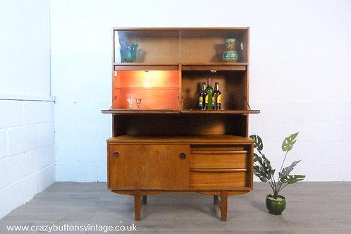 mid century teak bar drinks gin display cabinet