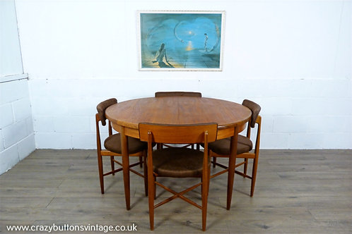 G Plan Fresco round circular dining table and chairs