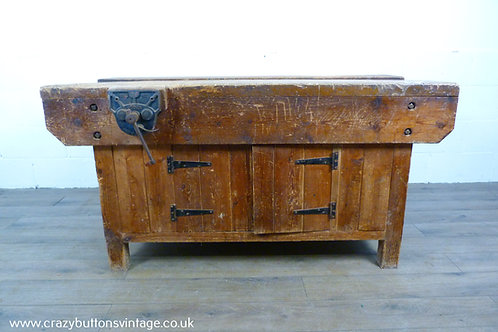 Carpenters Workbench with Vice Cupboard Kitchen Island