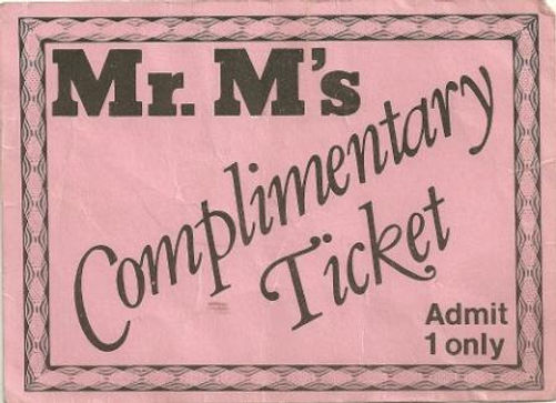 Mr Ms Ticket, Newcastle Alternative Clubs in the 1980s, Rockshots, Tiffanys