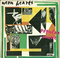 Neon Hearts, Popular Music, Satril Records, record sleeve, cover, punk, post-punk, Clash, Joe Strummer, Slits, Gang of Four, Au Pairs, Eccentric Sleeve Notes