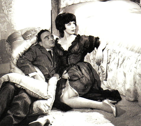 Fenella Fielding with Kenneth Connor in Carry On Regardless (1961)