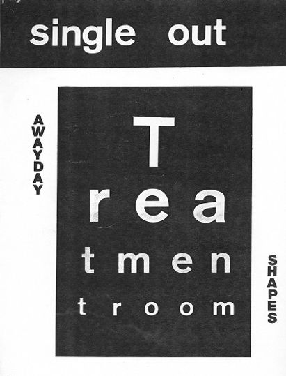 Treatment Room Poster Newcastle 1981 post-punk, Clash, Joe Strummer, Slits, Gang of Four, Au Pairs