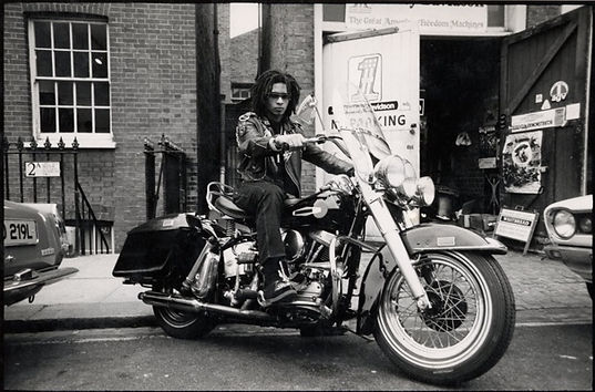 dread on a motorbike, Don Letts, Punk Rock Movie, Westway to the World, Punk: Attitude, Joe Strummer, Clash, Slits, punk, post-punk