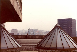 Roof of DHSS, Swan House roundabout 1985