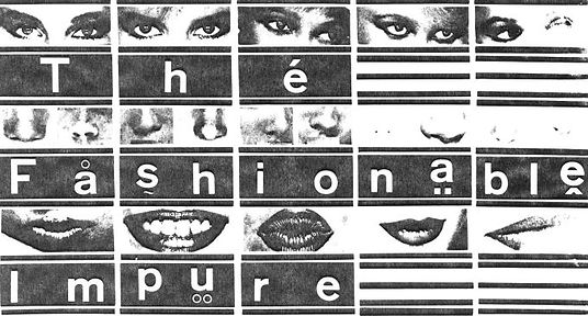Fashionable Impure, logo, Venu Sanctus Spiritus, Chris Simpson, Treatment Room, Newcastle alternative scene, 1980s, post punk, new wave band