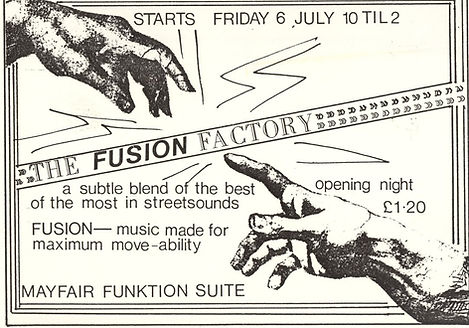 Fusion Factory, Newcastle Mayfair, Newcastle Alternative Clubs in the 1980s, Tiffanys, Rockshots
