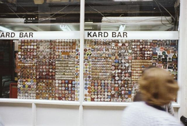 Kard Bar badge display (Handyside Arcade)