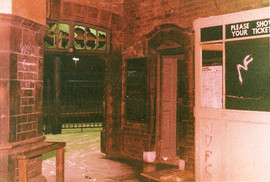 Manors Station Interior - NF graffiti 1985