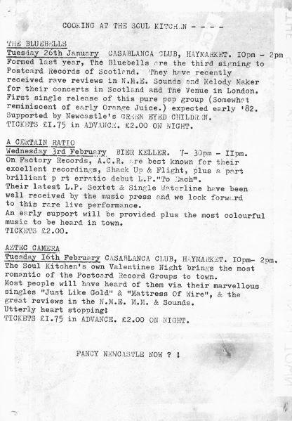 Soul Kitchen Events 1982