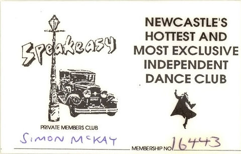 Speakeasy, Membership, Newcastle Alternative Clubs in the 1980s, Rockshots, Tiffanys