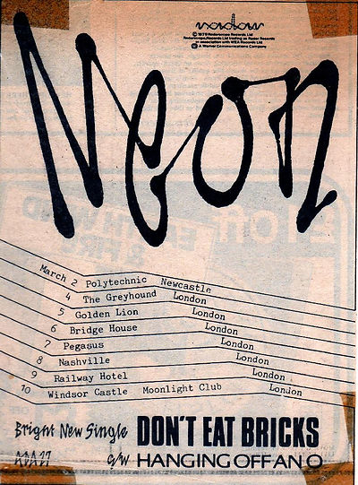 Neon, group, north east, Don't Cover Your Hair, Bottles, I'm Only Little, Tim Jones, Radar Records, Martin Hannett