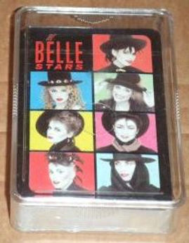 Belle Stars, Jenny McKeown, Lesley Shone, Sign of The Times, playing cards, promotional item, Stiff Records