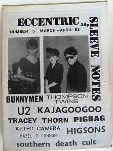ESN 5, U2, Echo & The Bunnymen, Thompson Twins, Tracey Thorn, Pigbag, Aztec Camera, Hazel O'Connor, Higsons, Southern Death Cult