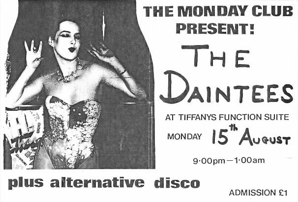 1983-08-15 Monday Club, Tiffanys, Dainte