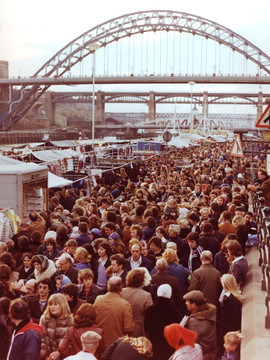 Newcastle Quayside Sunday Market 1970s