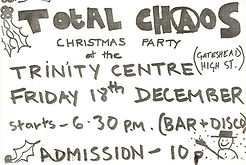 Flyer for Total Chaos at Gateshead Trinity Centre 1981