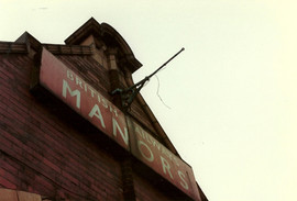 Manors Station sign 1985