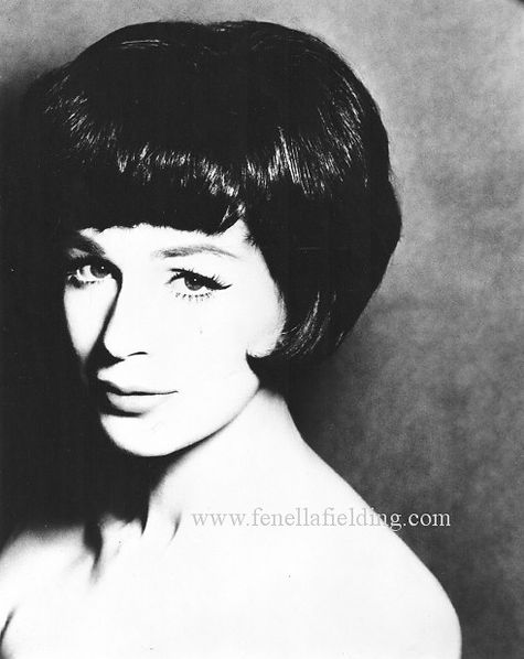 Fenella Fielding black 'n' white portrait 1961