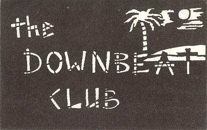Downbeat Club, Membership Card, Newcastle Alternative Clubs in the 1980s, Rockshots, Tiffanys