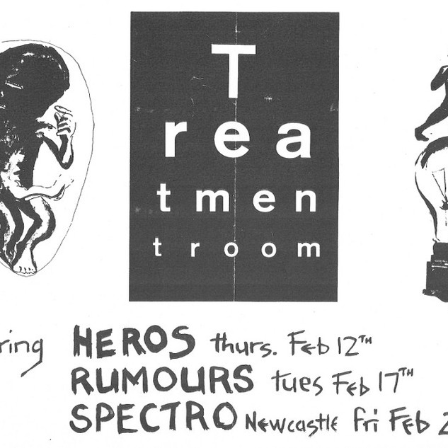 1981-02 Poster for Treatment Room gigs N