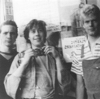 Fashionable Impure, logo, Venu Sanctus Spiritus, Chris Simpson, Bronek, Nick, Treatment Room, Newcastle alternative scene, 1980s, post punk, new wave band