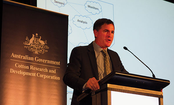 Richard Heath, general manager research, Australian Farm Institute, addressing the 'Harvesting the Benefits of Digital Agriculture' conference in Melbourne, 15 to 16 June 2017.