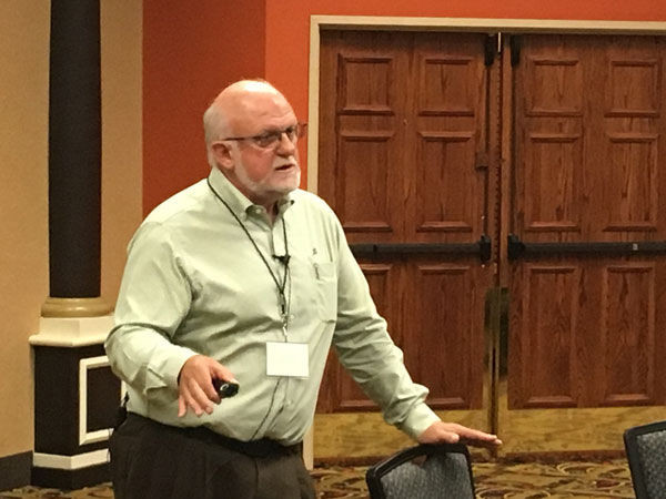 Jim Pollock, Prassack Advisors, speaks during the Agricultural Economic and Technology Summit in June.