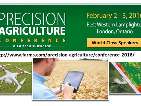 World Class Precision Agriculture Experts to Present at Annual Conference