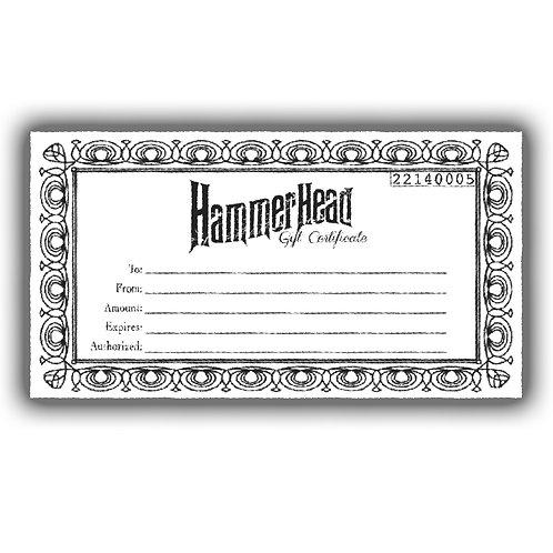 $50.00 Hammerhead Gift Certificate